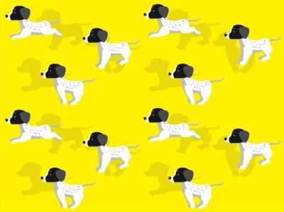 Fototapeta Dog Cartoon Braque Seamless Wallpaper Background