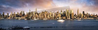 Fototapeta Dolny Manhattan Skyline. Giant widok panoramiczny USA
