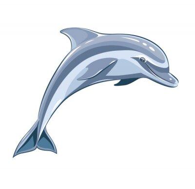 Fototapeta Dolphin. Eps8 ilustracji wektorowych. Samodzielnie na białym tle