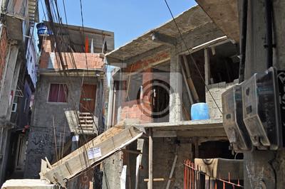 Domy brazylijskiej faveli w Rio de Janeiro