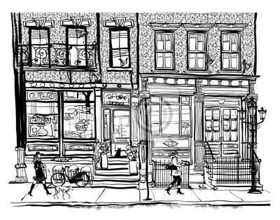 Domy w Greenwich Village w Nowym Jorku