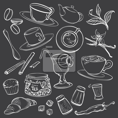 Doodle Ilustracje Coffeeshop