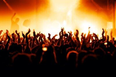 Fototapeta Doping concertgoers na koncert rockowy