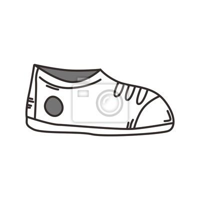 7ccf66f4f58 Fototapeta szkic buty sportowe na wymiar • czarny, obuwie, zmiętą ...