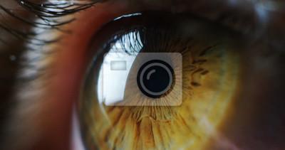 Fototapeta Doskonały zielony oczomierz w sterylnym otoczeniu i doskonałą wizję w rozdzielczości