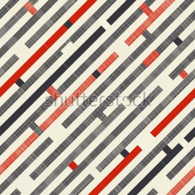 Fototapeta Dostępny abstrakcyjny wzór z diagonalnymi lampasami na tle tekstury w retro kolorach. Niekończący się wzór może być używany do płytek ceramicznych, tapet, linoleum, tkanin, tła stron internetowych.