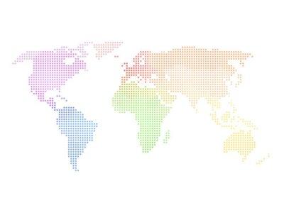 Fototapeta Dotted mapa świata