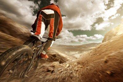 Fototapeta Downhill BMX