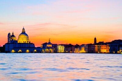 Fototapeta Dramatyczna słońca w Wenecji, Włochy