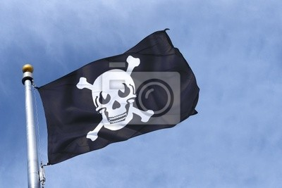 Fototapeta drapeau pirate 2