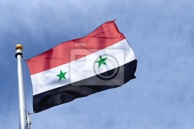 Fototapeta drapeau Syrie