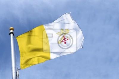 Fototapeta drapeau watykan