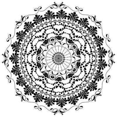 Fototapeta drawing black vector mandala