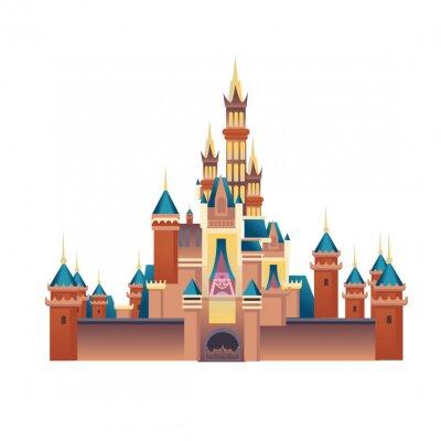 Fototapeta dreamy disney castle for the princess