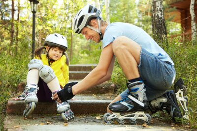 Fototapeta dressing roller skates