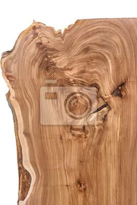 Fototapeta Drewniana cegiełka na białym tle