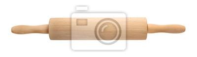 Fototapeta Drewniana toczna szpilka na białym tle