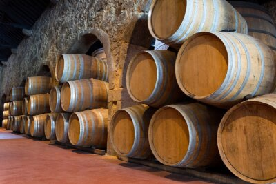 Fototapeta Drewniane beczki wina