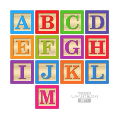 Fototapeta Drewniane klocki alfabetu