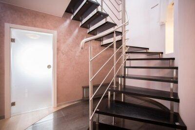 Fototapeta Drewniane schody spiralne