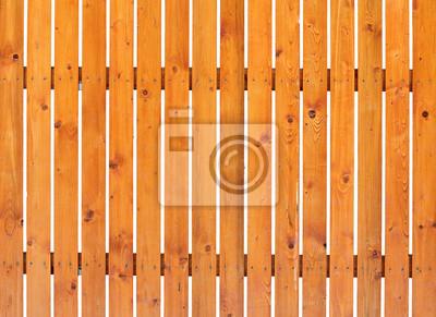 Fototapeta Drewniany płot na białym tle