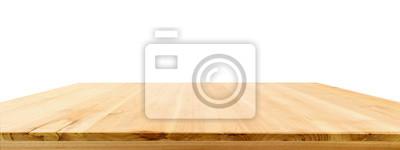 Fototapeta Drewniany stołowy wierzchołek odizolowywający na białym tle