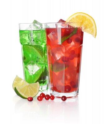 Fototapeta Drink z wapna i żurawiną