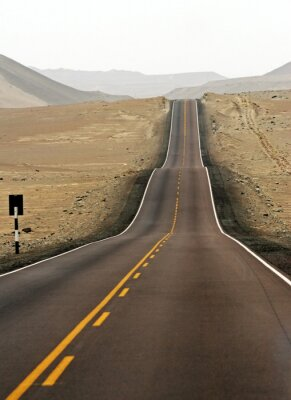 Fototapeta Droga 5 - pustynia