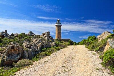 Fototapeta Droga do latarni morskiej - San Pietro Isle, Sardynia, Włochy