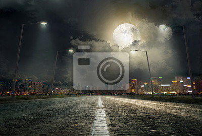 Fototapeta Droga do miasta 2