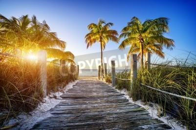 Fototapeta Droga do plaży w Key West, Miami, Floride, USA