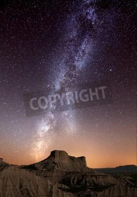 Fototapeta Droga Mleczna na pustyni Bardenas, Hiszpania