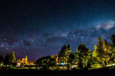 Fototapeta Droga Mleczna nad jeziorem Tekapo, Nowa Zelandia
