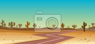 droga na pustyni yhe z kaktusa