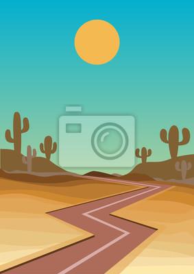 droga na zachodniej pustyni
