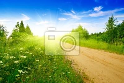 Droga z piasku i doskonały letni dzień