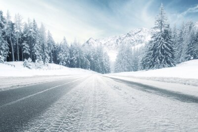 Fototapeta Droga zima i zimne dni