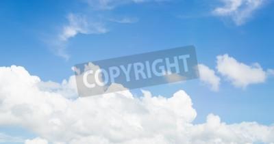 Fototapeta drzew i błękitne niebo chmura chmurny krajobraz