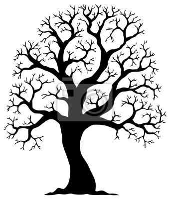 Fototapeta drzewo w kszta cie sylwetki 2 na wymiar - Malvorlage stammbaum ...