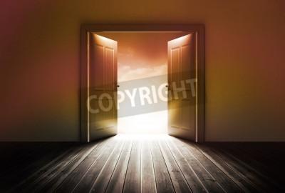 Fototapeta Drzwi odkrywcze jasne światło