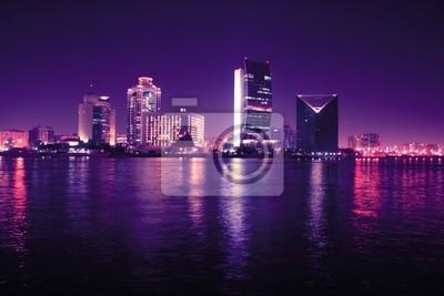 Dubai w nocy, Zjednoczone Emiraty Arabskie