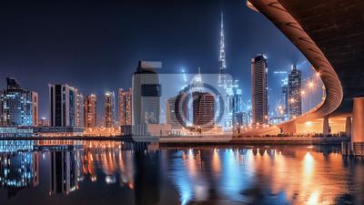 Fototapeta Dubaj nocą
