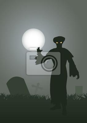 Duch na cmentarzu