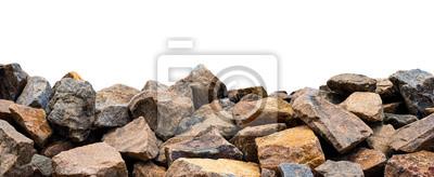 Fototapeta Duża skała odizolowywająca na bielu. To ma ścieżkę obcinania.