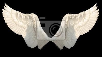Fototapeta Dwa Angel Wings samodzielnie