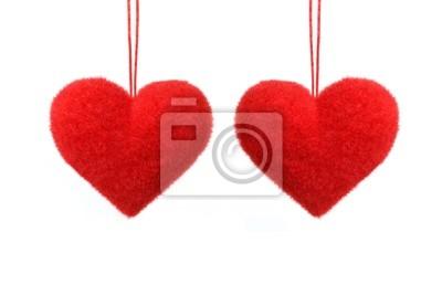 Fototapeta Dwie puszyste serca