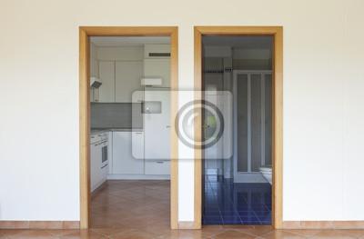 Dwoje Drzwi Wejście Do Kuchni I łazienki Fototapety Redro