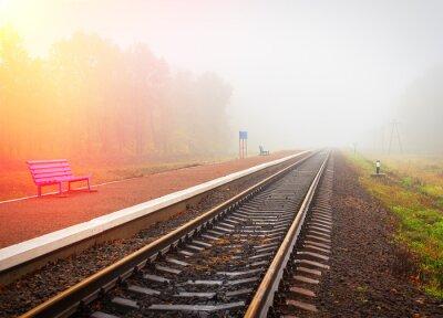 Fototapeta dworzec kolejowy