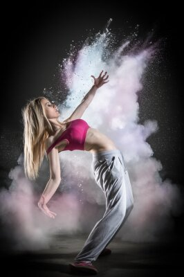 Fototapeta Dymu i danseuse