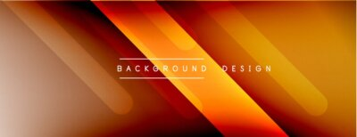 Fototapeta Dynamic lines abstract background. 3D shadow effects and fluid gradients. Modern overlapping forms